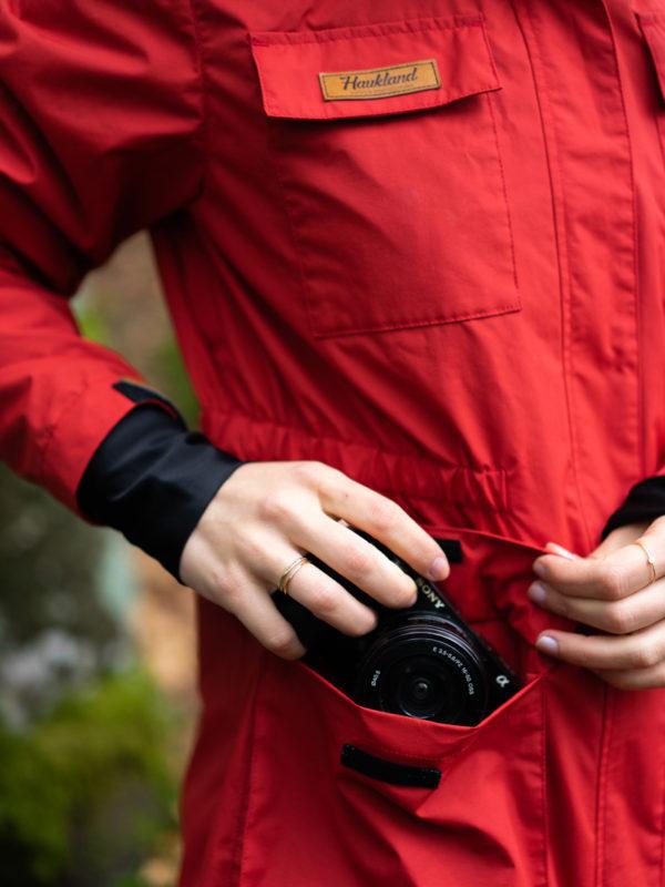 Haukland Explorer Jacke für Fotografen Damen rot